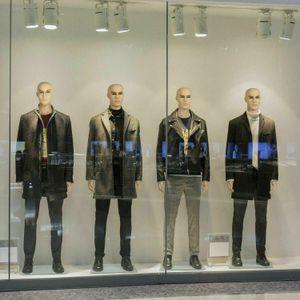 Masculina del maniquí de cuerpo completo PE Shop realista Display cabeza gira la forma del vestido w / Base