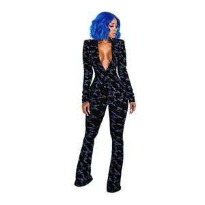 2019 Iş Çalışma Ofisi Bahar kış kadın moda Tam kollu ceket Eşofman Blazers pantolon 2 adet takım elbise Hırka SMR9145