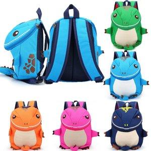 Baby Kids Cartoon Plush Backpack Dinosaur Cartoon Zippers Schoolbag Kindergarten Pre-school Shoulder Bag Rucksack Travel Bags