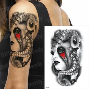 autocollant de tatouage temporaire hommes tatouage vampire halloween conçoit des tatouages mécaniques tatouage transfert femmes de tatouage visage tatto