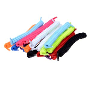 1Pair Colours Curly Elastic Shoelaces No Tie Trainer Kids Shoe Laces for Childs and Adults Best in Sports Flat Shoelace Hot Sale