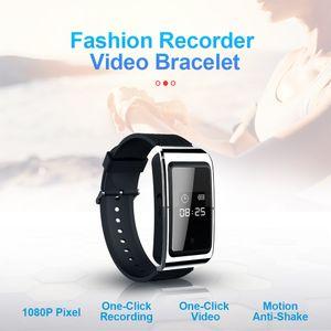 HD 1080P Смарт браслет мини-камера 8gb 16gb 32gb носимого smartband Видеокамера Digial часы диктофон в розничной коробке