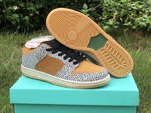 Haute qualité SB Skateboard bas Safari Designer Chaussures Gris Neutre Kumquat Désert Ocre Mode Sport Zapatos Chaussures bateau avec la boîte