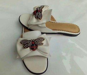 2019 nouveau luxe femmes sandales plates de mode été femme casual abeille décorative pantoufles de mode 35-42