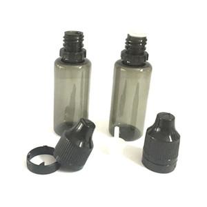800pcs 30ml 20ml 15ml 10ml 5ml PET en plastique noir avec bouteilles Dropper Bottle Caps infalsifiable Tamper Evident Bouteille Livraison gratuite