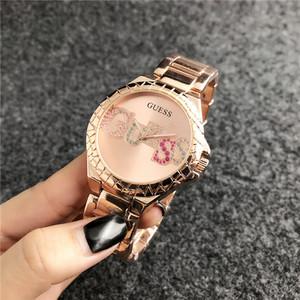 Nueva modaAdivinarrelojes de marca de alta calidad de las mujeres de la moda de cuarzo reloj de lujo de la marca caliente regalo de los relojes de los relojes relojes femme