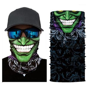 Cycling Hooded Scarf Windproof Outdoor Scarf Designer Printed Sun Protection Couples Scarf Fashion