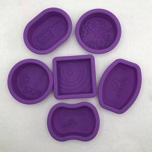 6pcs / set 3D Silicone Moldes para sabão Fazendo Soap Óleo Essencial de fazer moldes Candle Mold DIY bolo de sabão Moldes Bolo decoração ferramentas