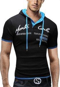 Erkek Tişörtü Tasarımcı Düğme ve Şapka Dekorasyon Yaz Giyim Spor Stil Gündelik Tops Tasarımcı Harf Baskı