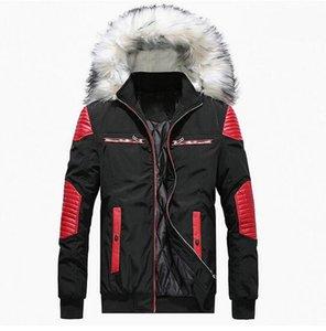 2020 Новый Мужчины Зимние куртки сгущает Теплый меховой с капюшоном ветровки Zipper вскользь Outwear Шинель мужские зимние куртки и пальто