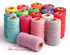 100 m de largo / 100 yardas de algodón puro cuerda torcida artesanías Macrame artesanal cadena de alta calidad decorativos para el hogar