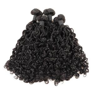 IShow Funmi pelo 100A Bunchy Rose Curl Virgen del pelo humano 3 / 4Bundles de colores naturales de la moda brasileña rizada peruana de Malasia pelo indio