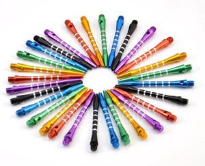 25 teile / los 2BA Darts Zubehör Aluminium medium dart welle rake stange werfen 53mm lange mischungsfarbe