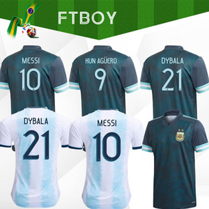 Thaïlande Argentine maillot de football Copa America 2020 argentina maillot de football maillot de football MESSI DYBALA AGUERO hommes + enfants kit ensembles uniforme