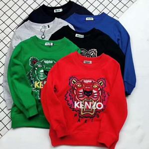 Marke Herbst 2019 neue Produkt Kleidungsstück Kinder Cartoon Stickerei Tiger Hoodies Sweatshirts