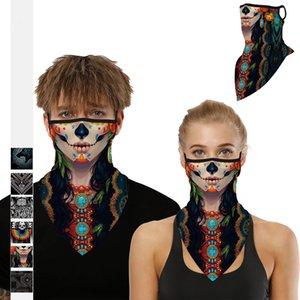 Ciclismo Maschera Maschere mezzo volto Bandane ghiaccio seta equitazione passamontagna biciclette Maschera maschere antipolvere Vento Sole Protezione scheletro del cranio facciale