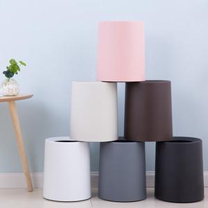 Nordic Пластиковые Матовый Trash Can 8L / 12L мусора мусорной корзины для хранения Ковш бумаги Корзина для дома и офиса Waste Bin без крышки корзины