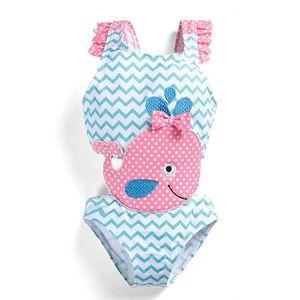 New 2019 cute Kids Swimwear One-piece Girls Swimsuit Kids Swim Suits Girls Bikini Kids Bathing Suits Child Sets Beachwear A4368