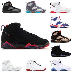 7s Klasik raptor basketbol ayakkabıları 7 ucuz saf para Bunny fransız mavi Bordo Hot Lava Verde siyah, kırmızı, beyaz, mavi spor ayakkabıları tavşan