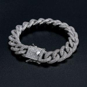 Kuba Armband Beste Qualität Hip-Hop Armband Voller Diamant Armband Micro Zirkonia Männer Schmuck Kupfer Plating18k Gold Mode