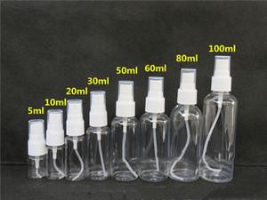 20 30 50 60 80 100ML PET Clear Empty Costitetic Spray Voice Bottles Refillable Bottles Transparent Plastic Botture Bottle Sprayer A05