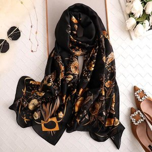 Yulaili 2020 Fashion Printing Scarves Summer Silk Scarf Ladies Beach Wraps and Shawls Female Gift Wholesale Free Shipping