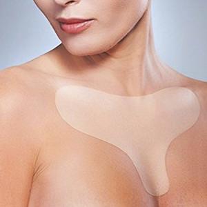 Reutilizable del cojín del pecho de silicona transparente de eliminación de parches Cara de elevación del pecho del cuidado de la piel en el pecho parche Carne