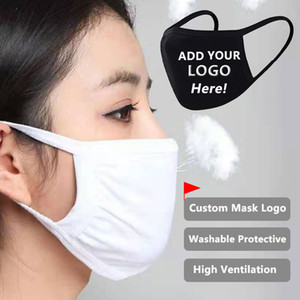 Diseñador de la máscara de la máscara personalizada logotipo personalizado Anti-Polvo de la boca de algodón de la mascarilla Unisex Hombre Mujer Ciclismo Negro que desgasta Moda 24 horas Enviado!