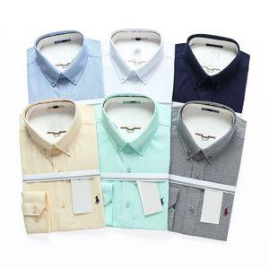 mens 2020 designer t shirts new duda brand men Autumn winter long sleeve cotton dress business casual pure color Men's shirts Size(M-4XL)
