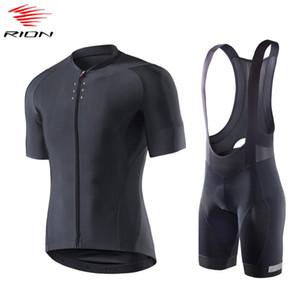 RION Homens Verão Ciclismo Jersey Set manga curta bicicleta Jersey MTB bicicleta Gel Pad Ciclismo Calções ropa ciclismo hombre