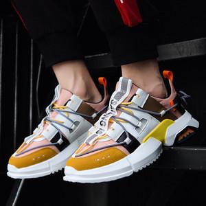 Светоотражающие британские мужские дизайнерские туфли 2019 года, роскошные дизайнерские женские туфли Party Platform повседневные кроссовки EUR 38-44
