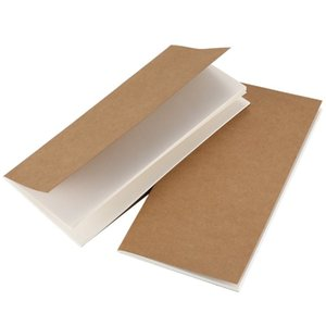 2 Pcs Notebook for Travelers-blank page Travel Journal Set-Kraft Brown Soft Cover H5 Size 210 mm x 112 mm 64 Pages/