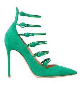 Venda quente-Handmade das Mulheres Sapatos de Salto Alto Fivela Correias Kid-camurça Partido Prom Sapatos Tamanho Grande Clube Moda Vestido Sapatos de Noite ZAD6