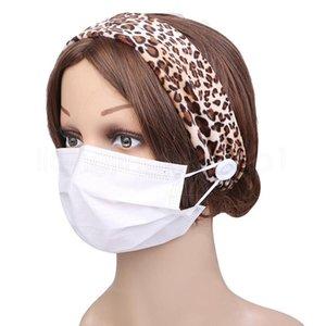 masque Leopard bouton femmes bande cheveux Velet cheveux bande ornements de tête bandeau serre-tête élastique partie de faveur FFA4063