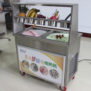 2020new commerciale Thailandia fry ice cream Macchina Thailandia Singolo Rotondo rotolato fritto ice cream Maker machine