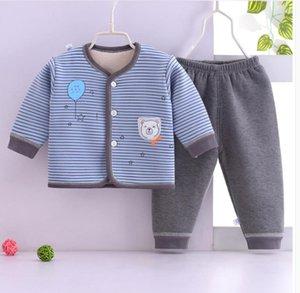 Baby plus plush winter underwear set