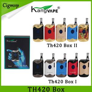 Original Kangvape TH420 Starter Kit II 650mAh Voltaggio regolabile TH420 Starter Kit Battery Box Mod 0.5ml Thick Oil CE3 Cartridge Tank