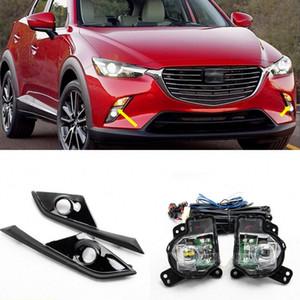 Araba OEM Tarzı Doğrudan Değiştirme Sis Lambası Işıkları 2016-2019 için Mazda CX-3 W / Amb + Anahtarı + Tel + Bezel / 1 için