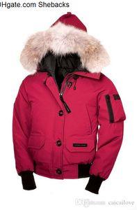 Top G00SE Winter-unten mit Kapuze Daunenjacke Tarnmuster China Kanada Frauen Reißverschluss warme Daunenjacke Outdoor-Jacken hohe Qualität