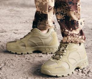 2019 automne hiver nouveau hommes en cuir respirant bas extérieur bottes militaires léger chaussures d'alpinisme tactique une bonne formation en ligne yakuda