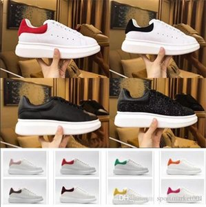 2020 Promotion Fashion Casual Shoes Flats Fashion Thick Sole Leather Walking Shoes Outdoors Daily Dress Party Sneakers with box