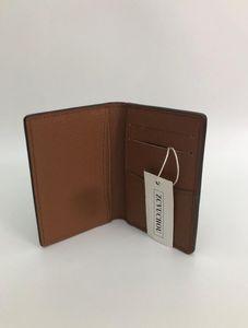 Excellente qualité organisateur de poche NM damier graphite M60502 porte-cartes en cuir véritable portefeuilles pour hommes N63145 N63144 sac à main portefeuille id