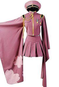 Hatsune Miku Senbon Сакура Косплей Костюм Кимоно платье Хэллоуин костюм Outfit