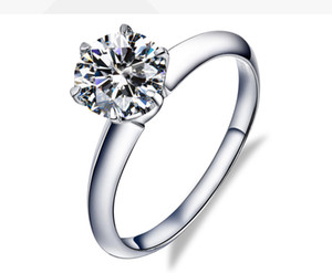 Factory direct sale 18k Gold white Real solid gold rings Moissanite Certified Diamond Ring engagement rings for women rings wholesale