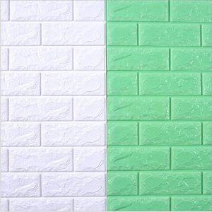 70X38.5CM DIY Self Adhesive 3D Wall Stickers Bedroom Decor Foam Brick Room Decor Wallpaper Wall Sticker For Kids Room