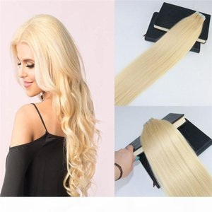 Tape in Hair Extensions Color 613 Bleach Blonde s Invisiable Real Human Hair Skin Weft Tape on Hair Extensions 100g 40pcs
