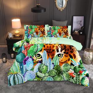 Пододеяльник 3D суккулентное растение, Зеленый, Король глубокого леса наборы постельных принадлежностей Король Королева полный Твин размер 2 / 3шт наволочка