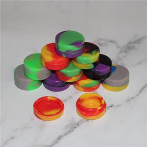 32mm 3ml Nonsolid Renk Saf Renk yapışmaz mum silikon kurulamak konteyner Kuru Ot Kavanozları Dab Yuvarlak Silikon Kapsayıcı Şekle