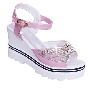 1 Pair Women Platform Wedge Heel Shoes Sandals Wear-resistant Non-slip Soles Waterproof Soft Breathable For Summer Beach Party
