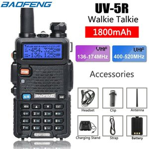 BAOFENG Walkie Talkie UV5R UV5R Dual Band 136-174MHz 400-520Mhz Two Way Radio-Transceiver mit 1800mAh Batterie US-Aktien